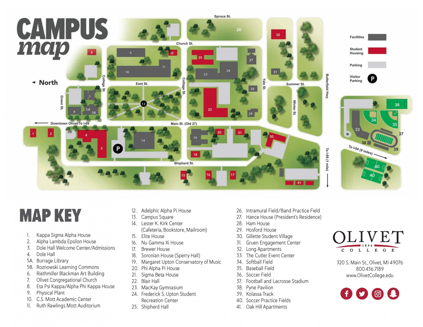 Maps Directions Olivet College
