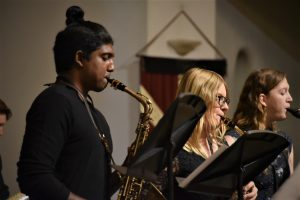 Olivet College Jazz Band members