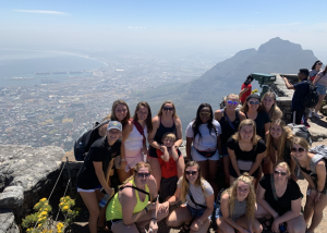 Members of the volleyball team in South Africa.